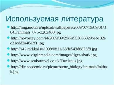 Используемая литература http://img.mota.ru/upload/wallpapers/2009/07/15/09/01...
