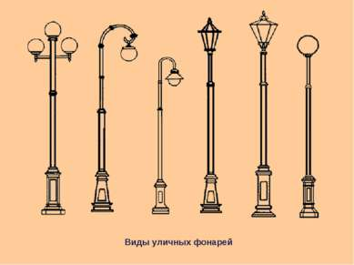 Виды уличных фонарей