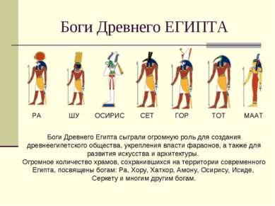 Боги Древнего ЕГИПТА РА ШУ ОСИРИС СЕТ ГОР ТОТ МААТ Боги Древнего Египта сыгра...