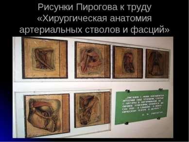 Рисунки Пирогова к труду «Хирургическая анатомия артериальных стволов и фасций»