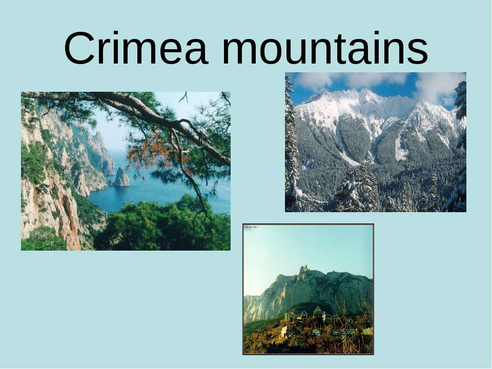 Crimea mountains
