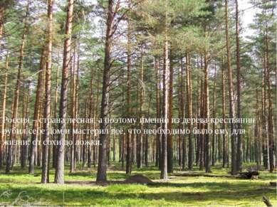 Россия – страна лесная, а поэтому именно из дерева крестьянин рубил себе дом ...