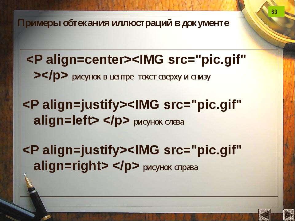 рисунок в центре, текст сверху и снизу рисунок слева рисунок справа Примеры о...