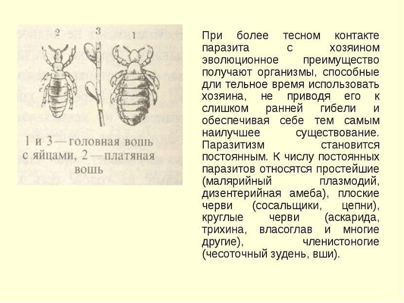 При более тесном контакте паразита с хозяином эволюционное преимущество получ...