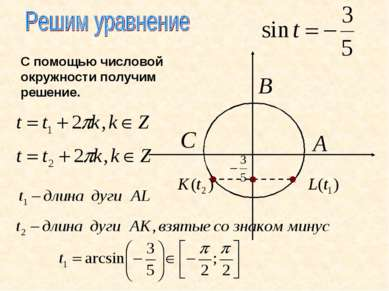 С помощью числовой окружности получим решение.