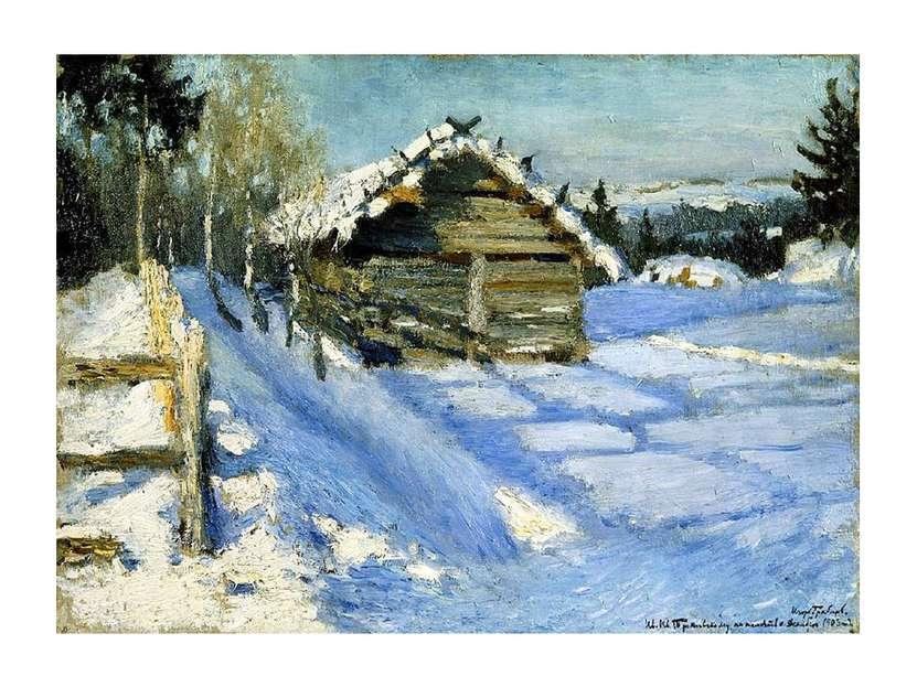 Картина Грабаря: Зимний вечер