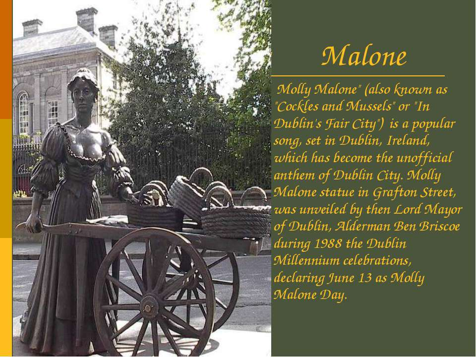 """Molly Malone Molly Malone"""" (also known as """"Cockles and Mussels"""" or """"In Dublin..."""