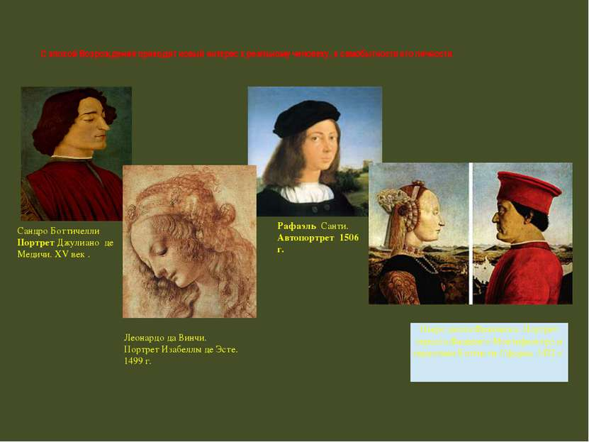 Сандро Боттичелли Портрет Джулиано де Медичи. XV век . Рафаэль Санти. Автопор...