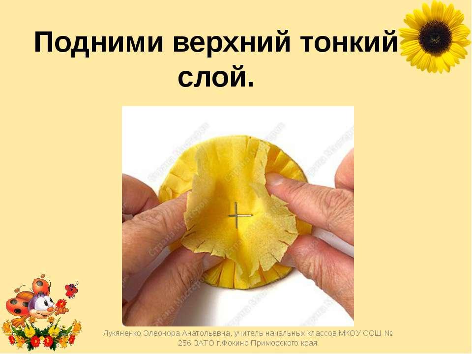 Подними верхний тонкий слой. Лукяненко Элеонора Анатольевна, учитель начальны...