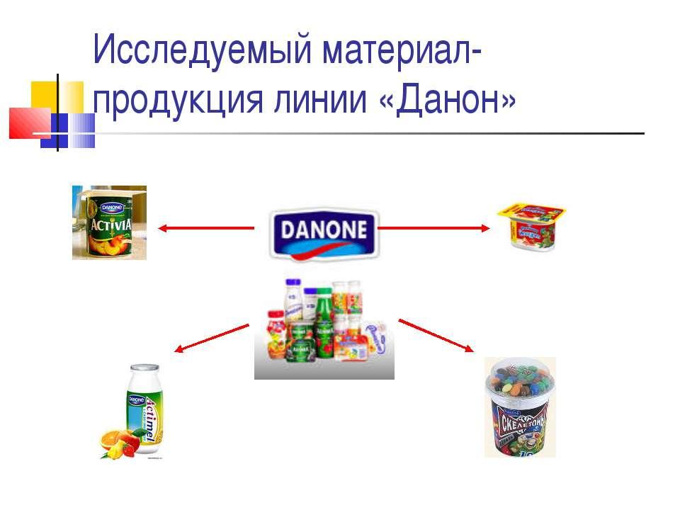 Исследуемый материал- продукция линии «Данон»