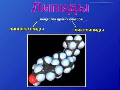 гликолипиды липопротеиды + вещества других классов….