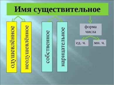 Имя существительное форма числа ед. ч. мн. ч.