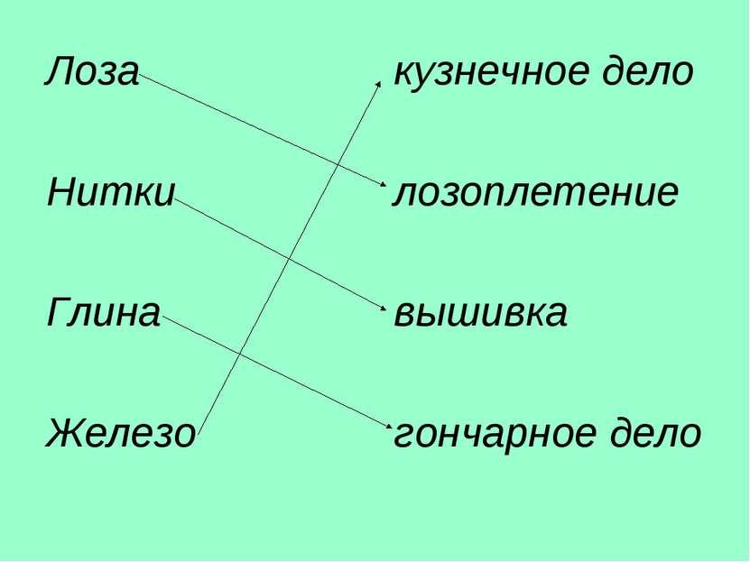 Лоза кузнечное дело Нитки лозоплетение Глина вышивка Железо гончарное дело