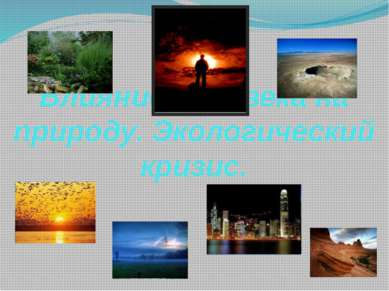 Влияние человека на природу. Экологический кризис.