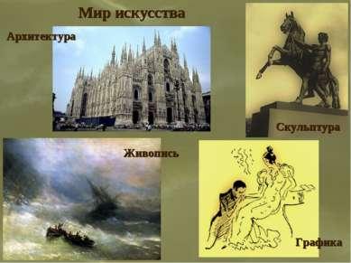 Мир искусства Архитектура Живопись Скульптура Графика