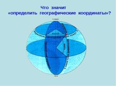 Что значит «определить географические координаты»?
