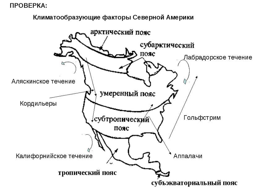 тропический пояс субъэкваториальный пояс ПРОВЕРКА: Климатообразующие факторы ...