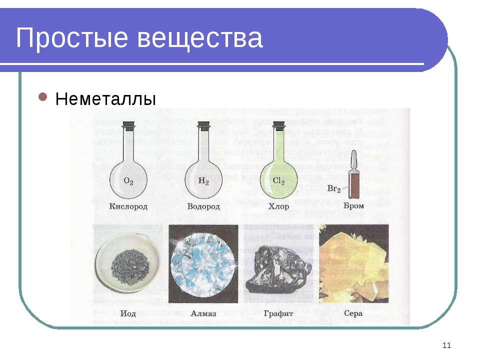 * Простые вещества Неметаллы