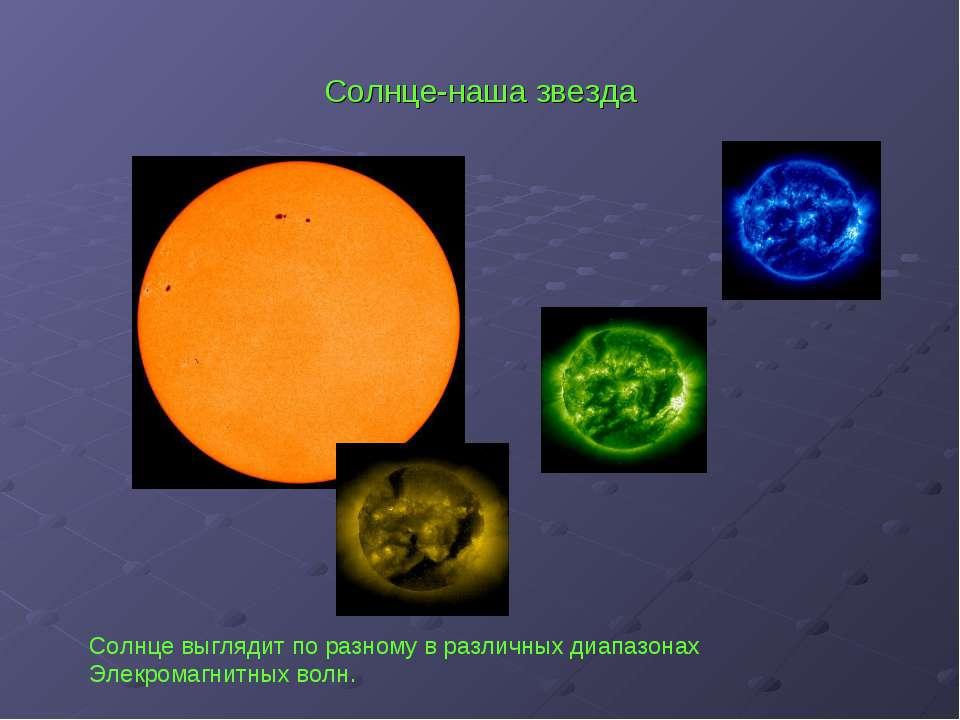 Солнце-наша звезда Солнце выглядит по разному в различных диапазонах Элекрома...