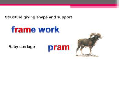 Structure giving shape and support Baby carriage