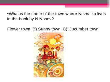 What is the name of the town where Neznaika lives in the book by N.Nosov? Flo...