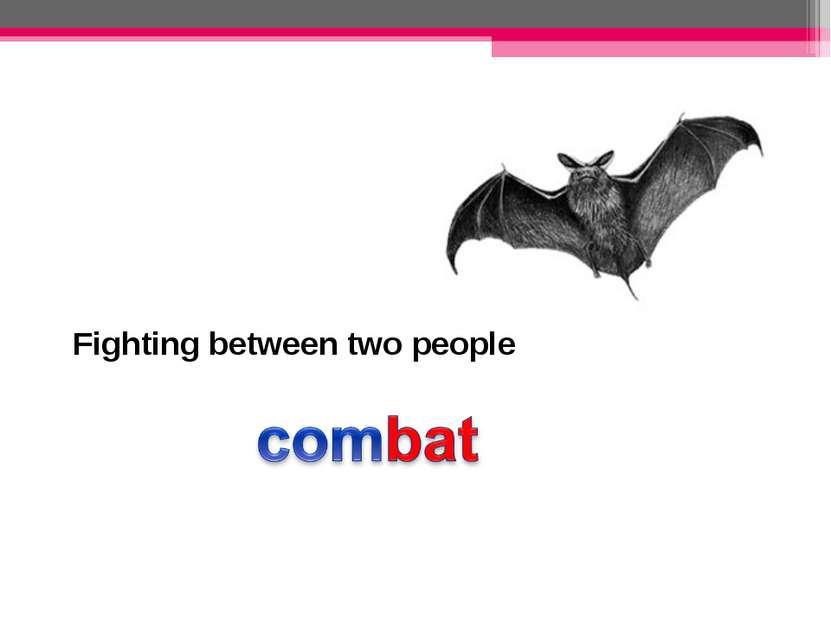 Fighting between two people