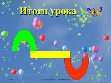 * (c) Л.А.Устименко, ГОУ ФМЛ №366 * Итоги урока (c) Л.А.Устименко, ГОУ ФМЛ №366