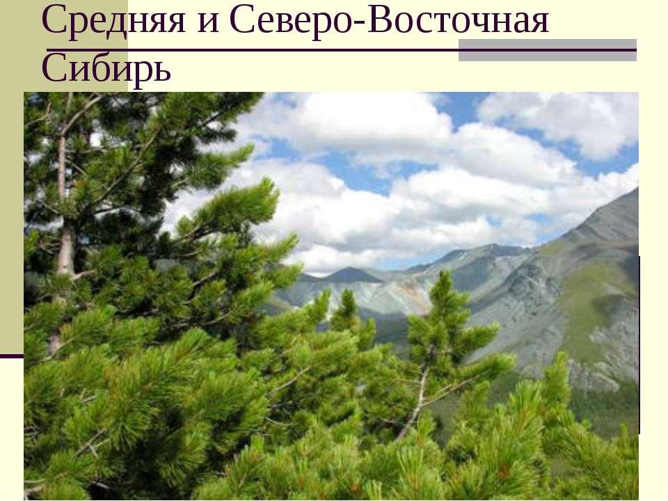 Средняя и Северо-Восточная Сибирь