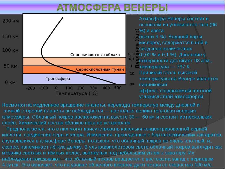 Несмотря на медленное вращение планеты, перепада температур между дневной и н...