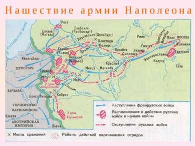 Нашествие армии Наполеона Неприятель шёл по русским землям, сметая всё на сво...
