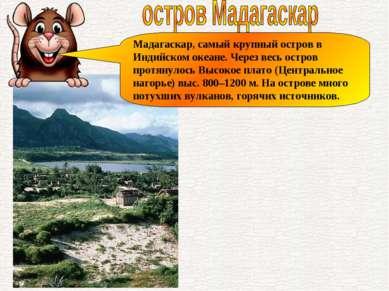 Мадагаскар, самый крупный остров в Индийском океане. Через весь остров протян...