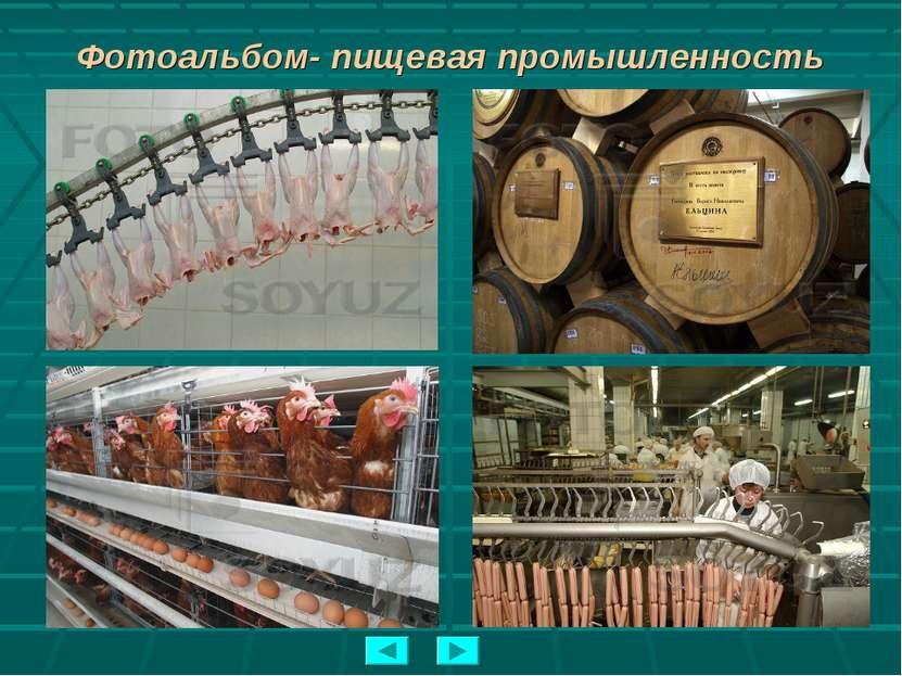 Фотоальбом- пищевая промышленность