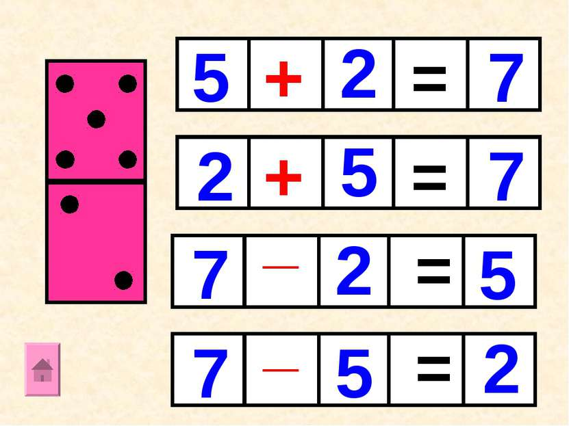 + + _ _ = = = = 5 5 5 2 2 2 7 7 7 7 5 2