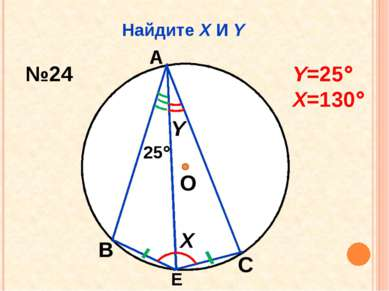 Найдите Х И Y О Х Y 25 А В С Е №24 Y=25 Х=130