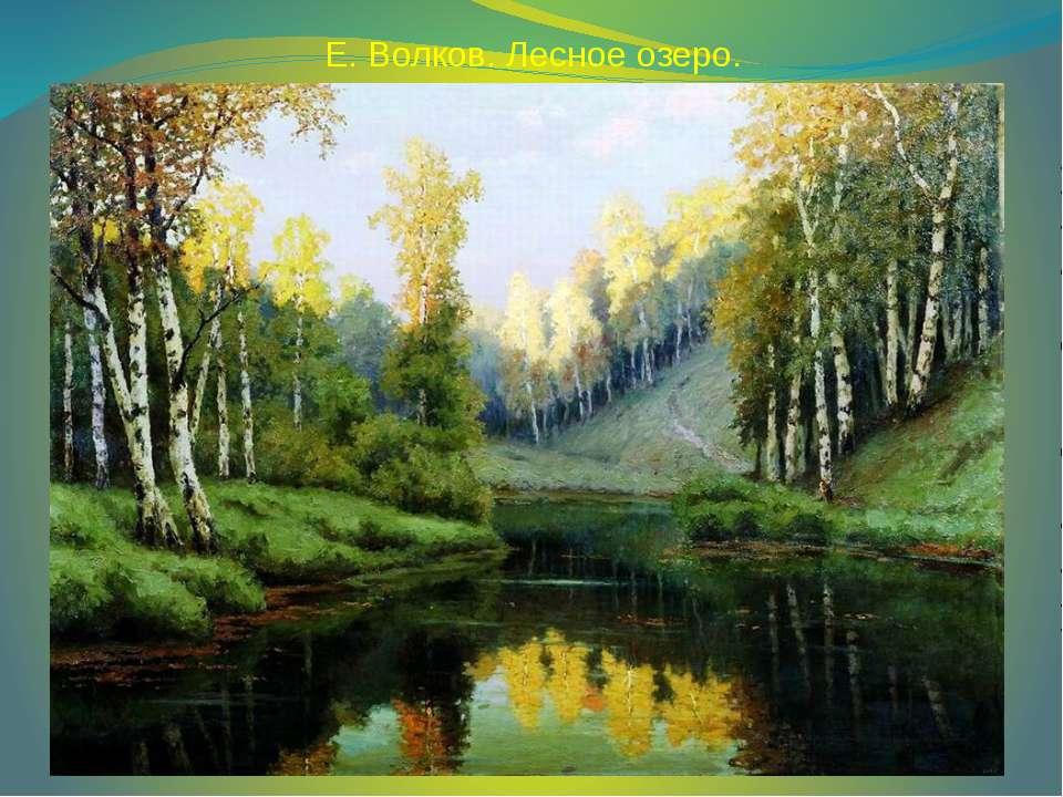Е. Волков. Лесное озеро.