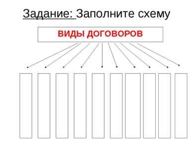 Задание: Заполните схему