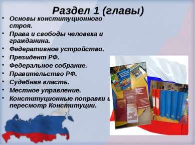 Раздел 1 (главы) Основы конституционного строя. Права и свободы человека и гр...
