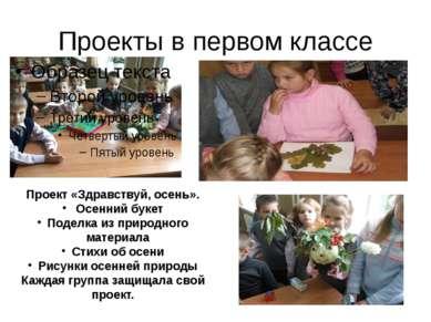 Проекты в первом классе Проект «Здравствуй, осень». Осенний букет Поделка из ...