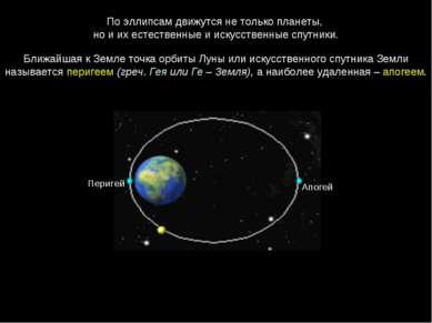 По эллипсам движутся не только планеты, но и их естественные и искусственные ...