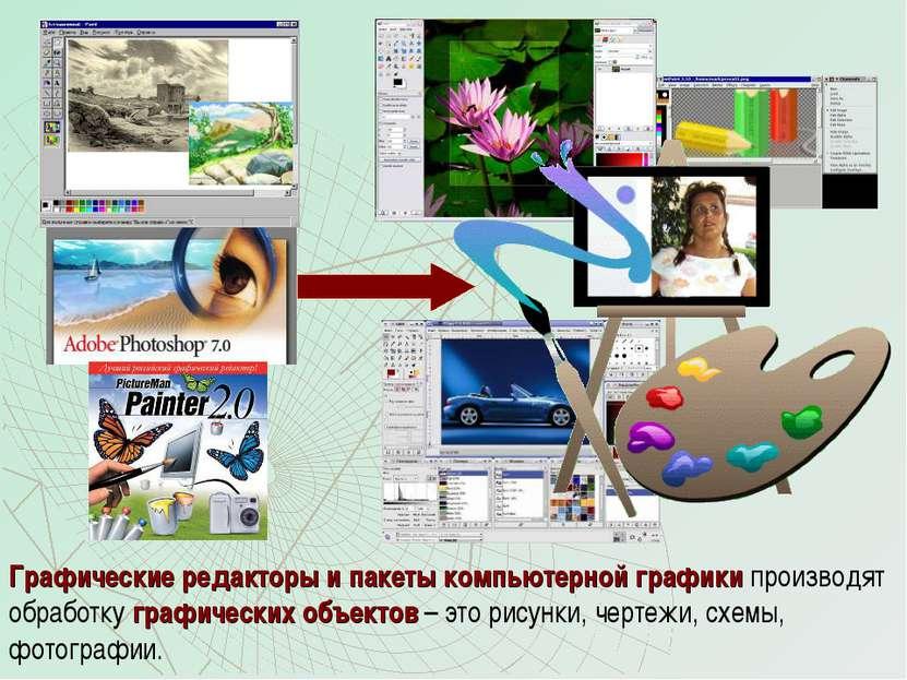 Графические редакторы и пакеты компьютерной графики производят обработку граф...