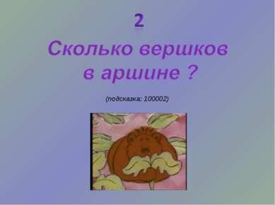 (подсказка: 100002)