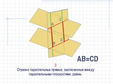 2 Отрезки параллельных прямых, заключенные между параллельными плоскостями, р...