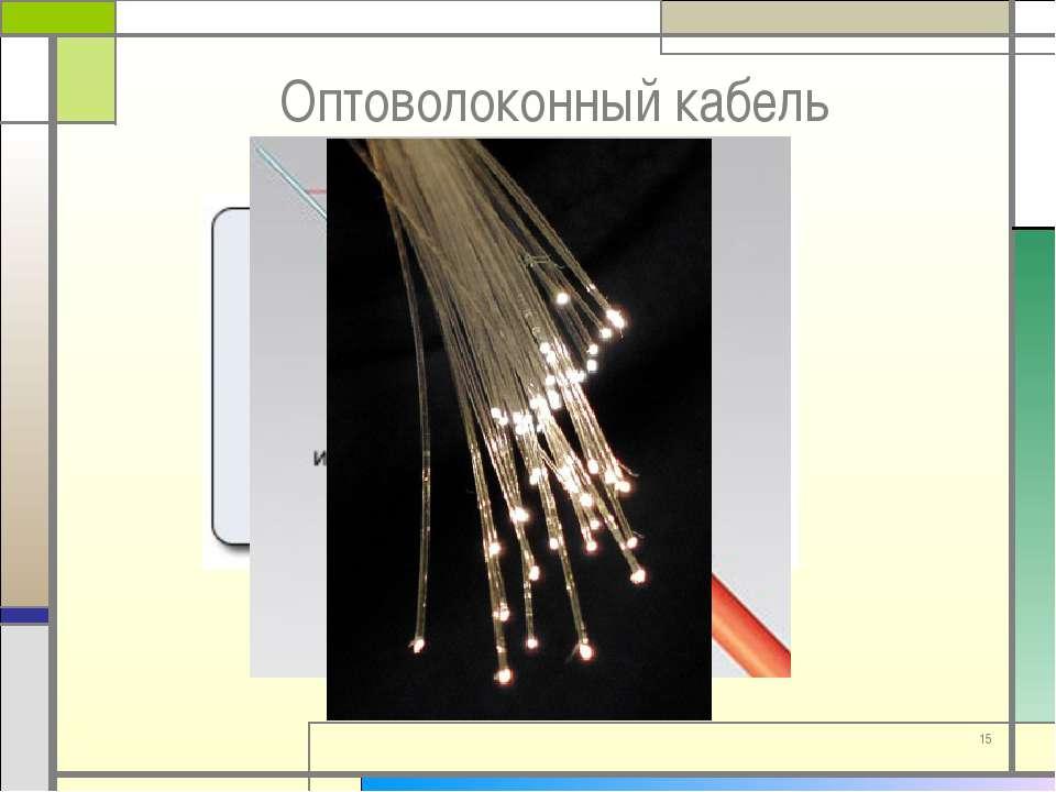 * Оптоволоконный кабель