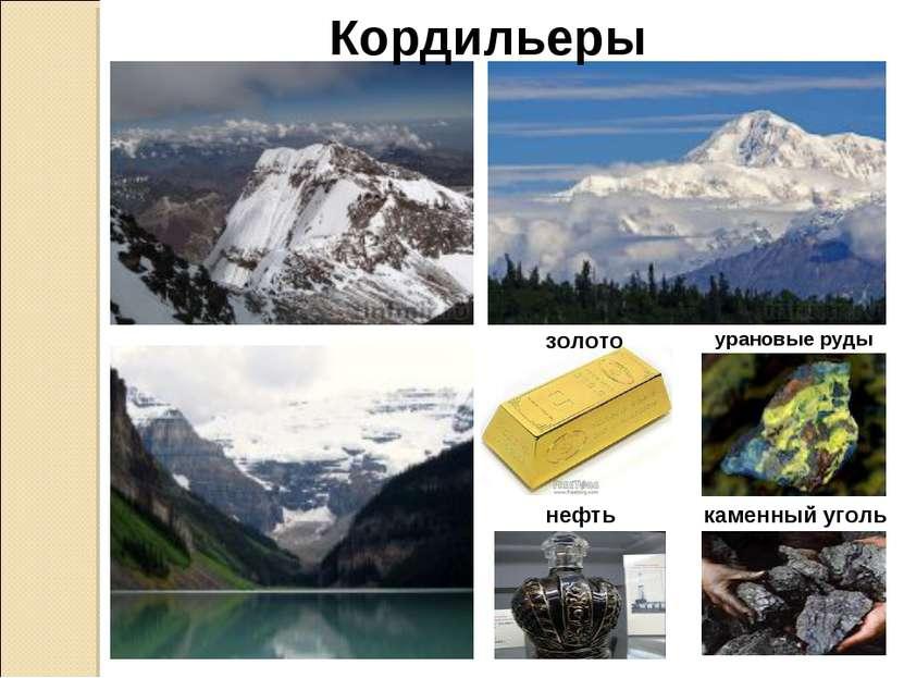 Кордильеры золото урановые руды нефть каменный уголь