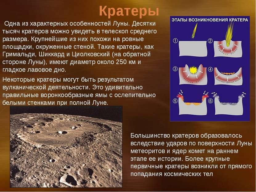 Одна из характерных особенностей Луны. Десятки тысяч кратеров можно увидеть в...