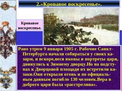 2.«Кровавое воскресенье». Кровавое воскресенье. Рано утром 9 января 1905 г. Р...