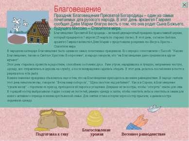 Праздник Благовещения Пресвятой Богородицы – один из самых почитаемых для рус...