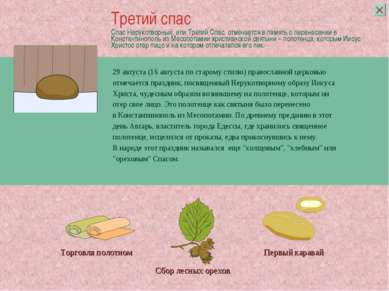 Спас Нерукотворный, или Третий Спас, отмечается впамять оперенесении в Конс...