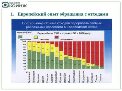 1. Европейский опыт обращения с отходами