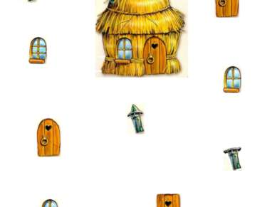 Найди окно, трубу и дверь от этого домика